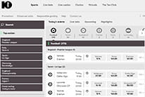 The home page of 10bet
