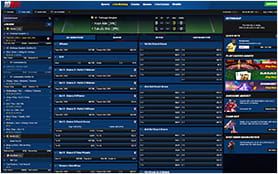 A View of the 10bet Live Betting Console