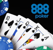 888poker logo and poker cards