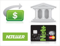 Money going from a bank or card towards your Neteller account