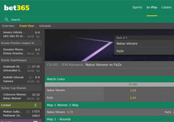 bet365 in-play eSports betting arena