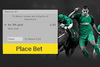 The free bet offer at bet365 being redeemed