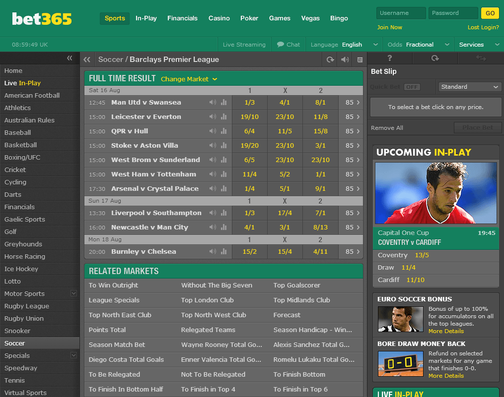 Bet365 Betting