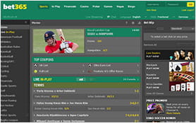On the bet365 you have an overview of the offered markets and betting options