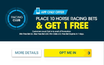 Betting promotion at BetBright mobile app