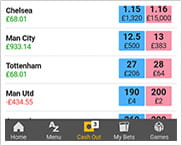 The betfair cash out portal for mobile betting