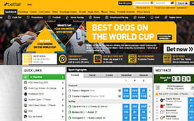 A view of the betfair sports betting portal
