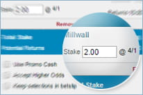 To get the bonus place a bet with predefined odds