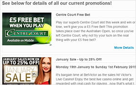 Betvictor knows to keep their customers with their many promotions