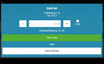 BetVictor placing a bet is quick and easy with the app