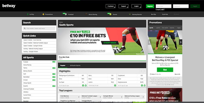Betway in-play Gaelic sports platfor