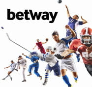 Betway logo and different sports