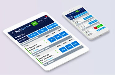 BoyleSports mobile app on iPhone and iPad