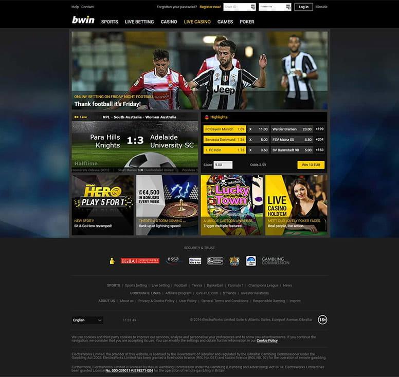 Bwin betting football games binary options brain review ap