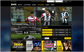 A View of the bwin Homepage.