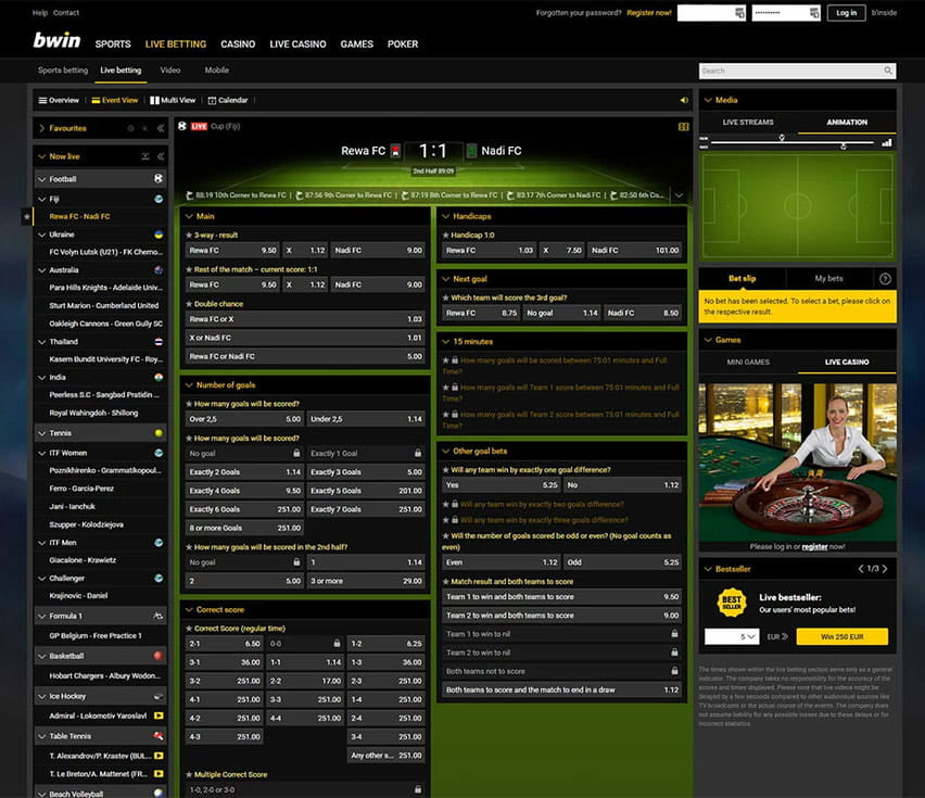 bets bwin live