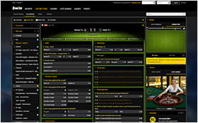 The bwin Live Betting Console.