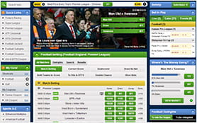 The available betting markets and options are good readable and structured