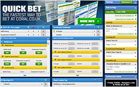 One of corals many features is the often used quick bet option