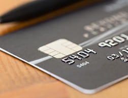 A black debit card