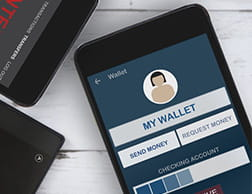 An e-wallet account on mobile