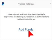 Selecting a way to fund your PayPal account