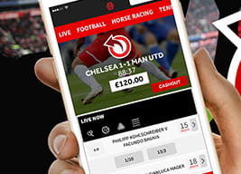 The Genting Bet mobile app held in a hand