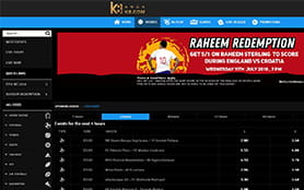 A view of the k8 sports betting portal