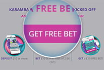 The free bet offer at Karamba being redeemed