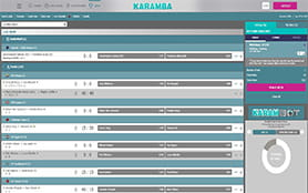 A view of the Karamba in-play arena