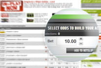 A wager being placed on the Ladbrokes home page