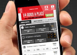 At a glance overview of the Ladbrokes mobile app