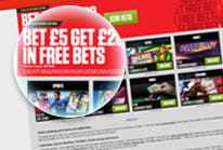 The sign up bonus being displayed at Ladbrokes