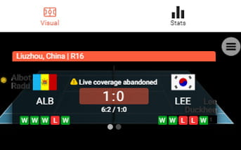 Live betting directory at LeoVegas mobile app
