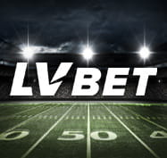 American football image with the LV BET logo