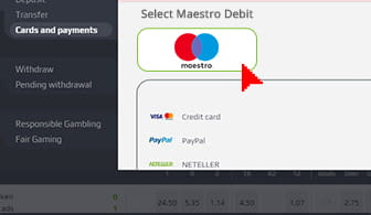 Select the add card section