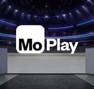 Stadium with the MoPlay logo