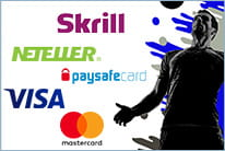 The MoPlay payment options (Skrill, Neteller, paysafecard, VISA, Mastercard)
