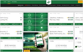 A view of the Mr Green homepage.