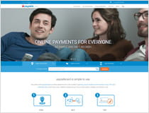 The paysafecard website, where you can get an account