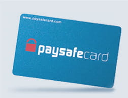 paysafecard pre-paid top up card