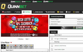 Football directory of QuinnBet