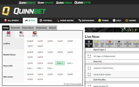 QuinnBet live betting arena