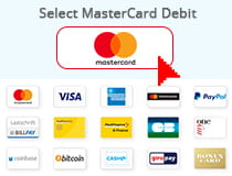 Select Debit card option at the cashier