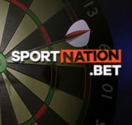 Darts board with the SportNation logo