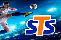 STS logo and a footballer