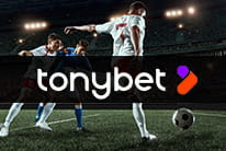 TonyBet logo and footvall