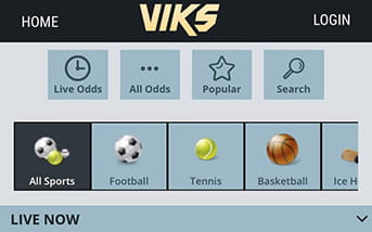 Viks mobile homescreen