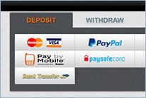 Choose a valid payment method and make the first deposit of at least £30.