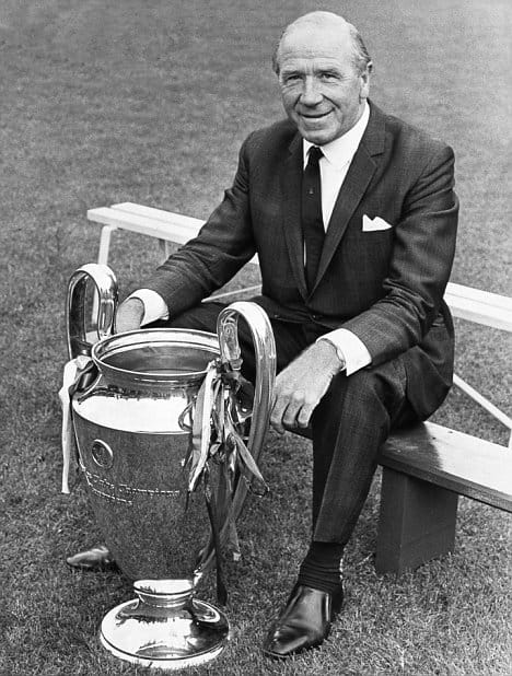 Sir Matt Busby with the European Cup 26.7.68